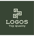 Logo abstract tree flat style vector image