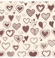 seamless background with brown doodle sketch vector image