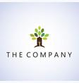 Tree logo ideas design on background vector image