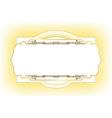 vintage frame design for post card vector image
