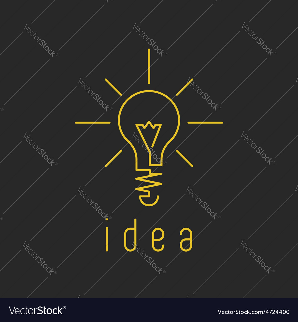 Lamp light mockup yellow business logo fresh vector