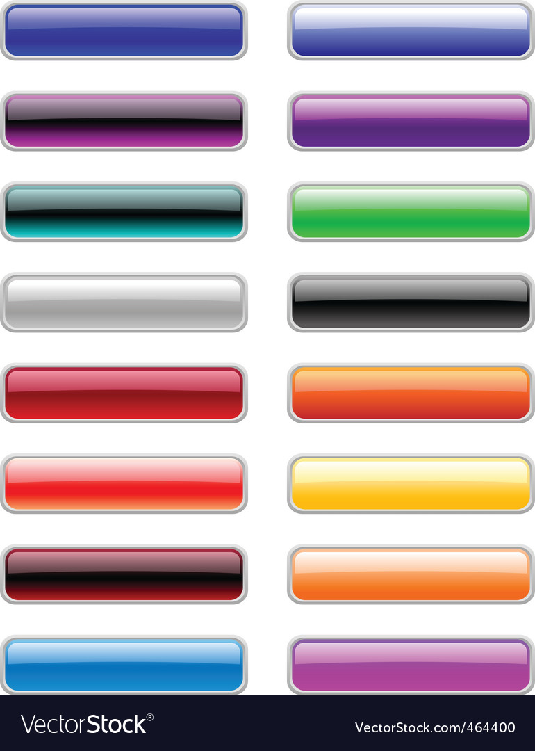 Rectangle buttons vector