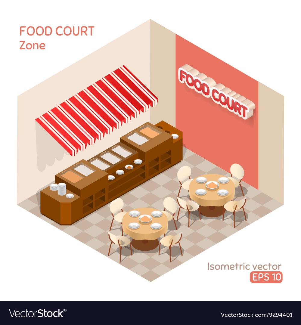 Food court zone vector