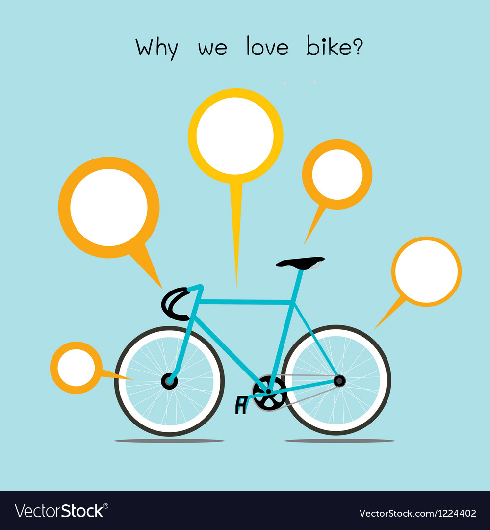 We love bike vector