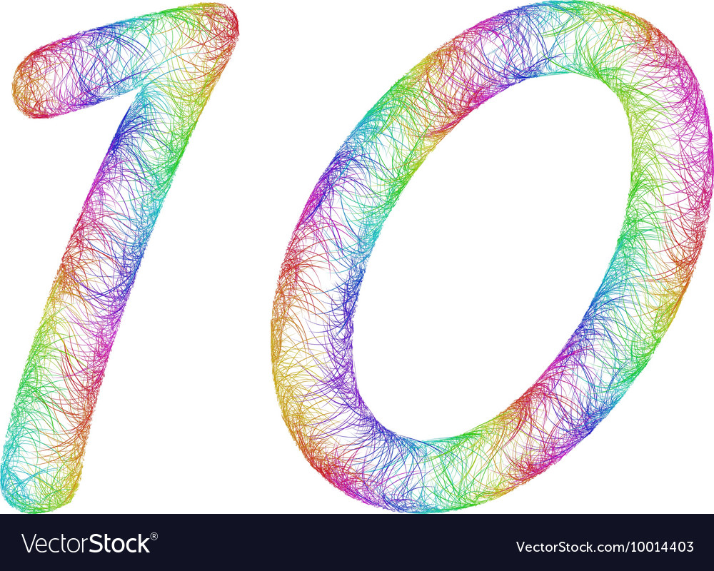 Rainbow sketch font design vector