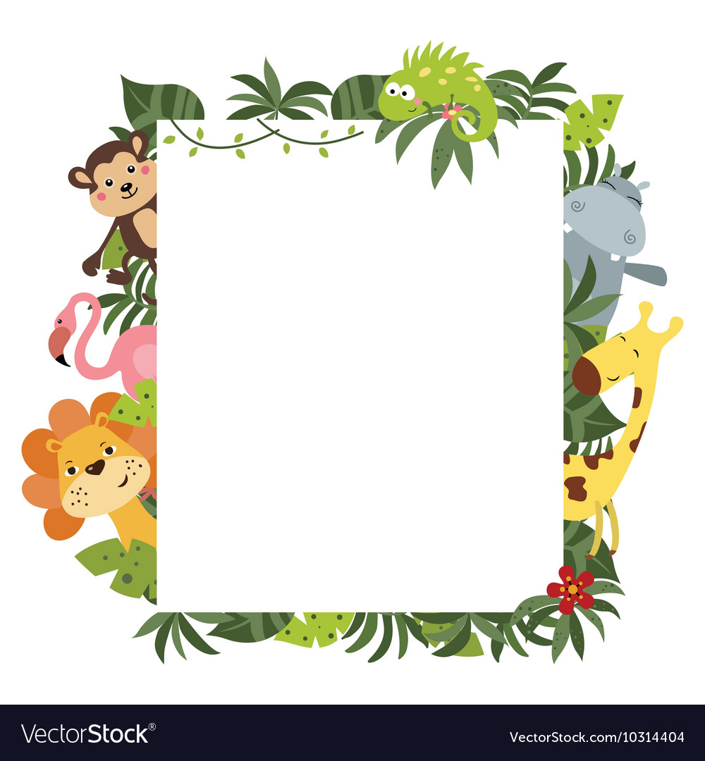 Frame with african animals vector