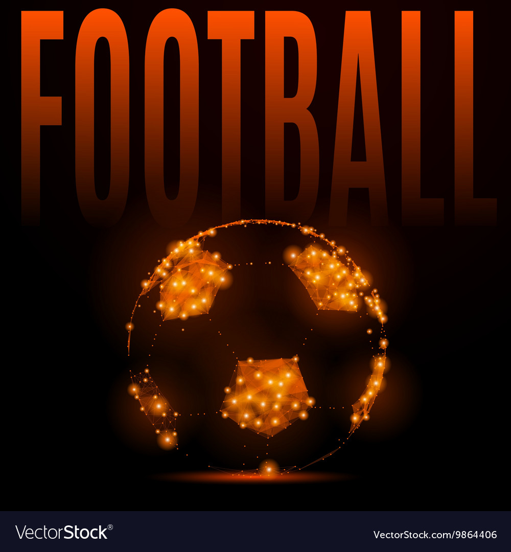 Football fire ball vector