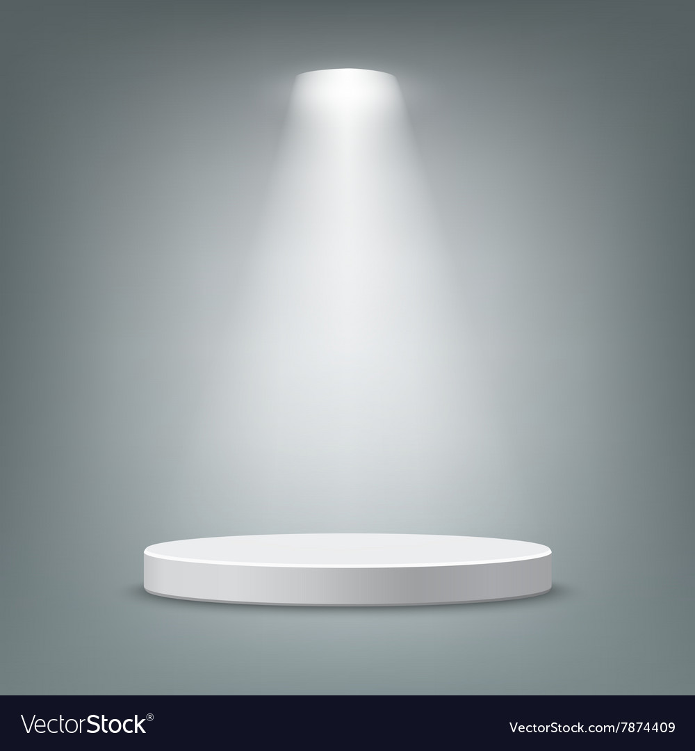 Illuminated round pedestal vector