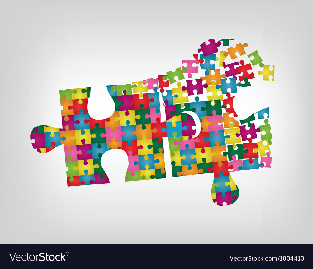 Puzzle in puzzle vector