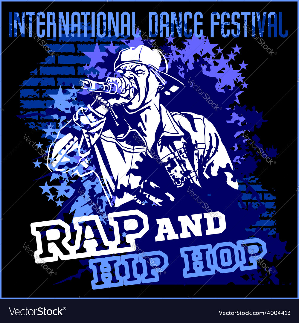 Rap hip hop graffiti  poster vector