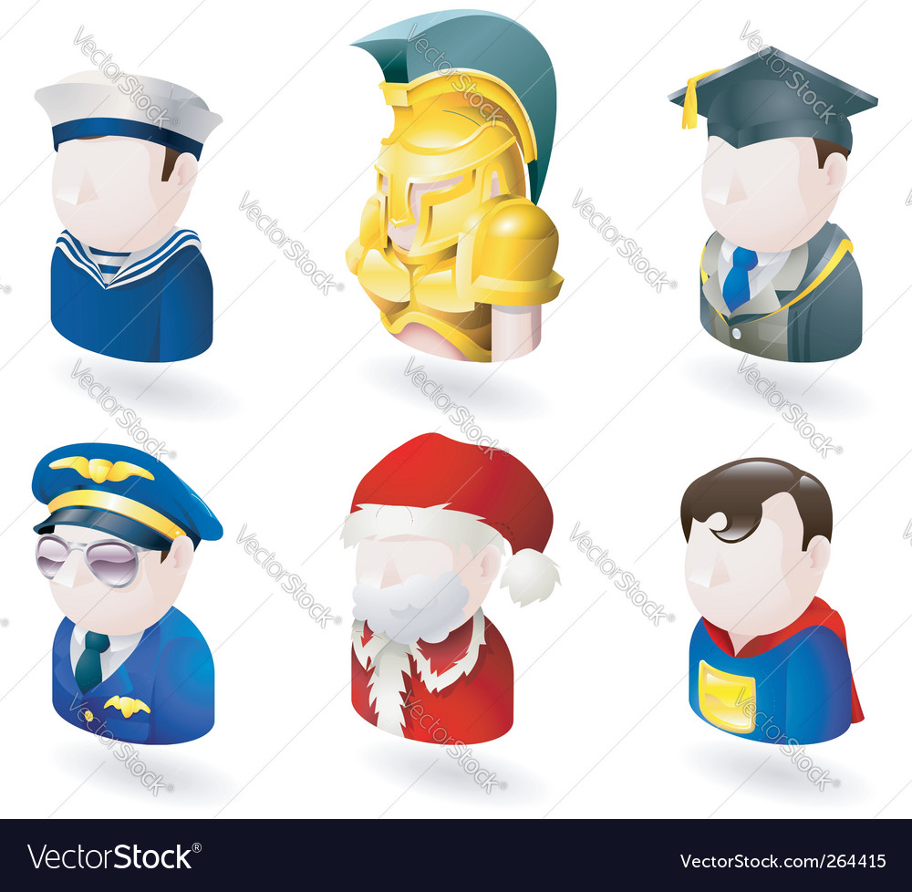 Avatar people web icons vector
