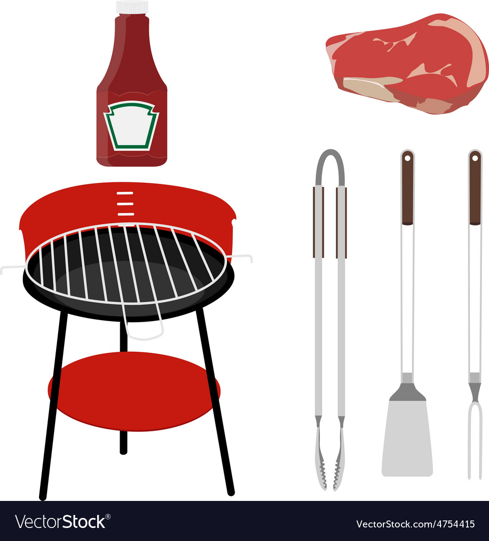Barbeque set vector