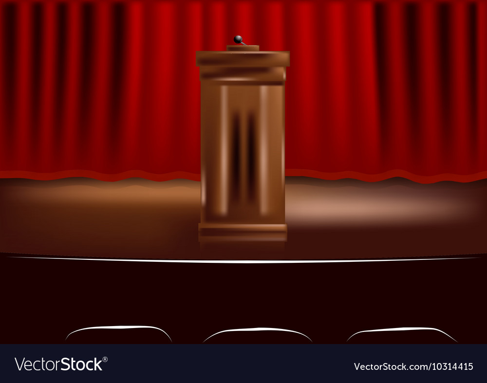 Wooden podium tribune vector