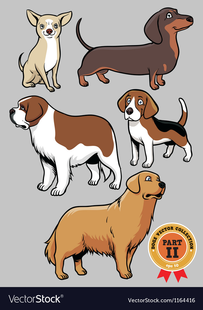 Dogs collection part 2 vector