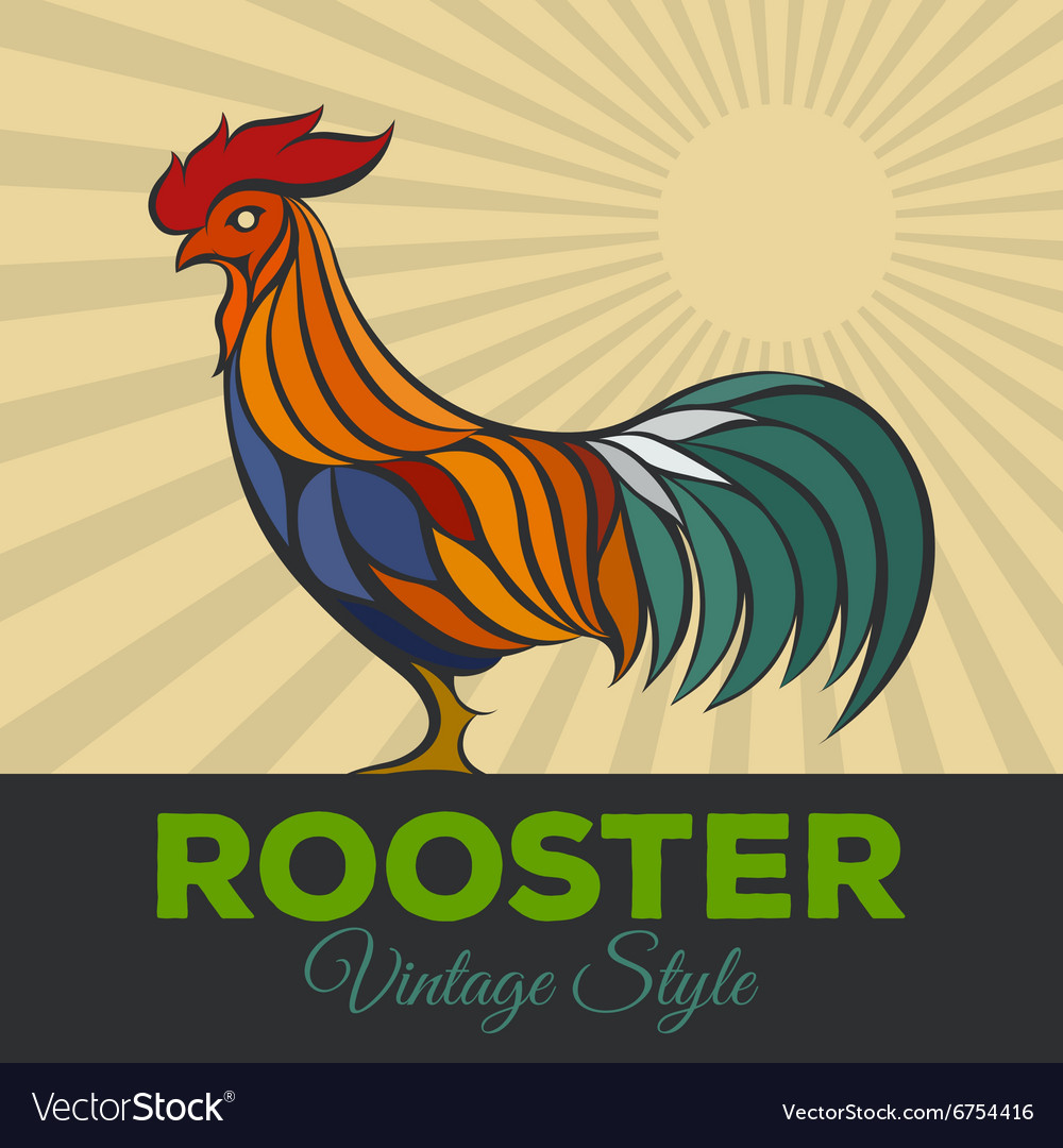 Rooster logo vector