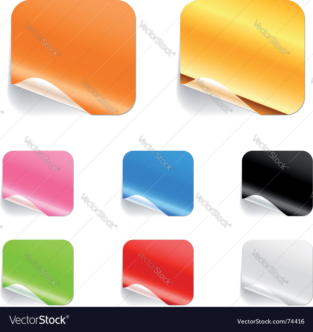 Square stickers vector