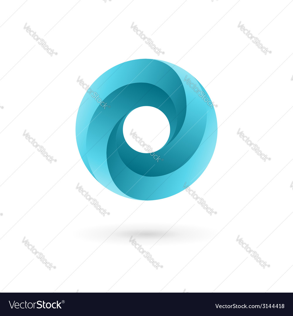 Letter o logo icon design template elements vector