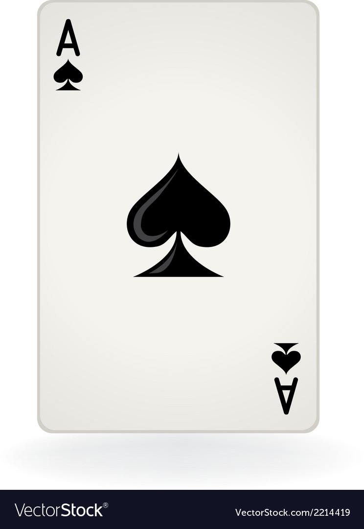 Ace of spades vector