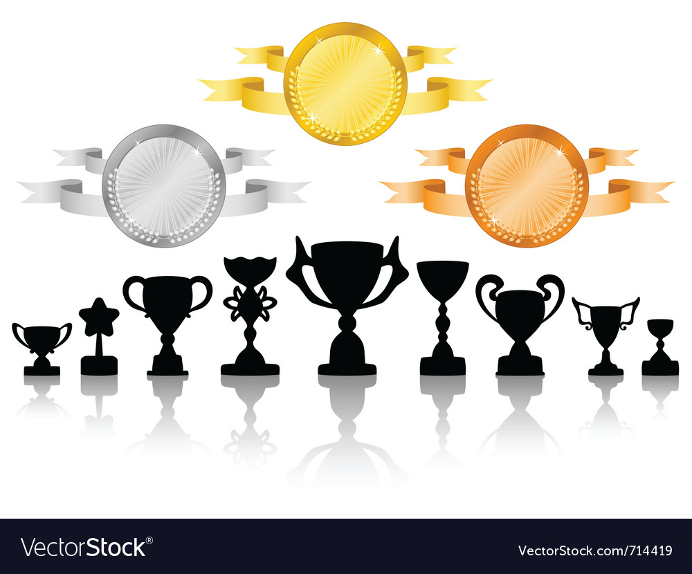 Medals set 2 vector