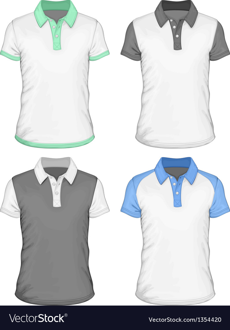 Mens poloshirt design templates vector