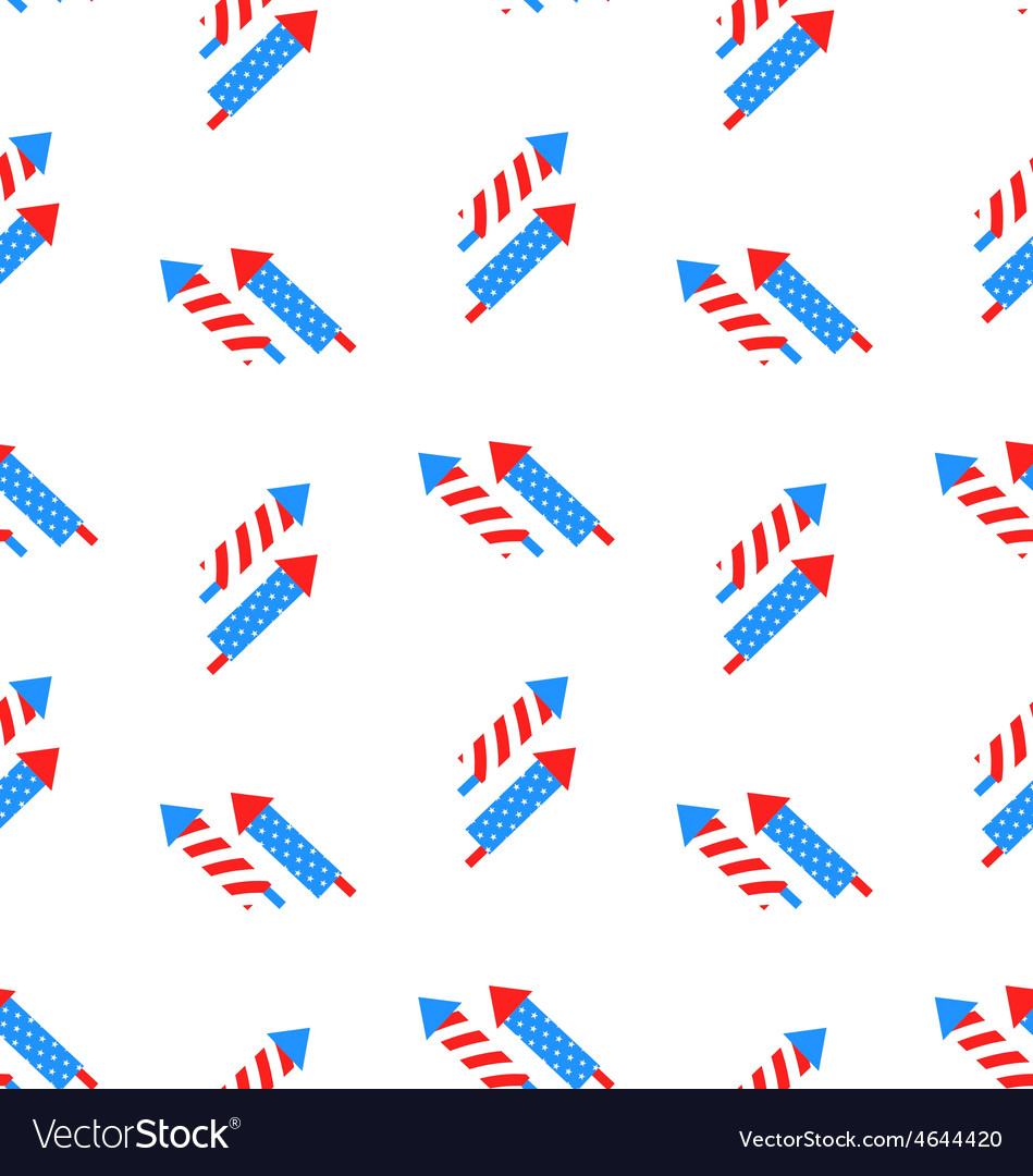 Seamless texture rocket for independence day vector