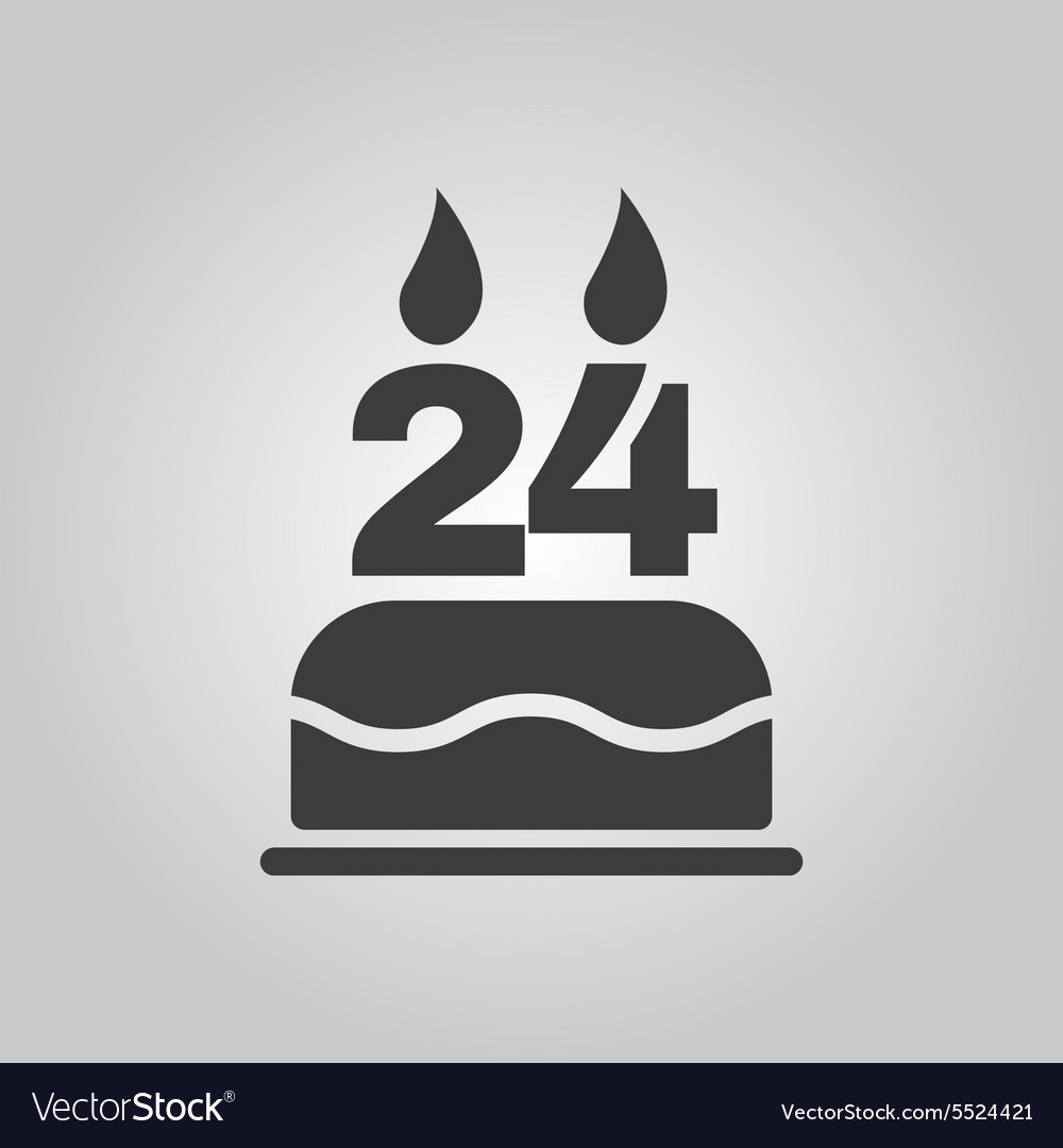 Birthday cake with candles in the form of vector