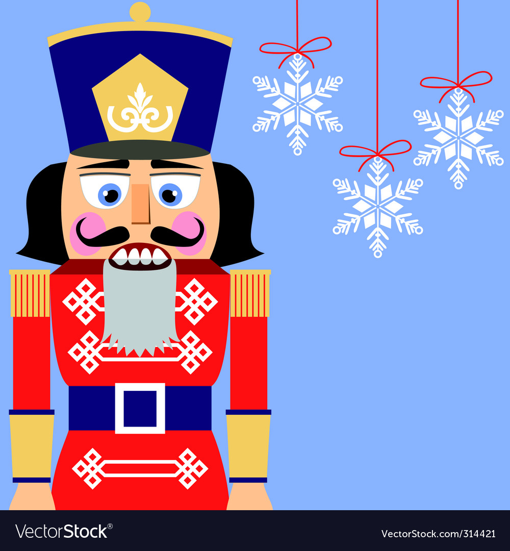 Nutcracker background vector