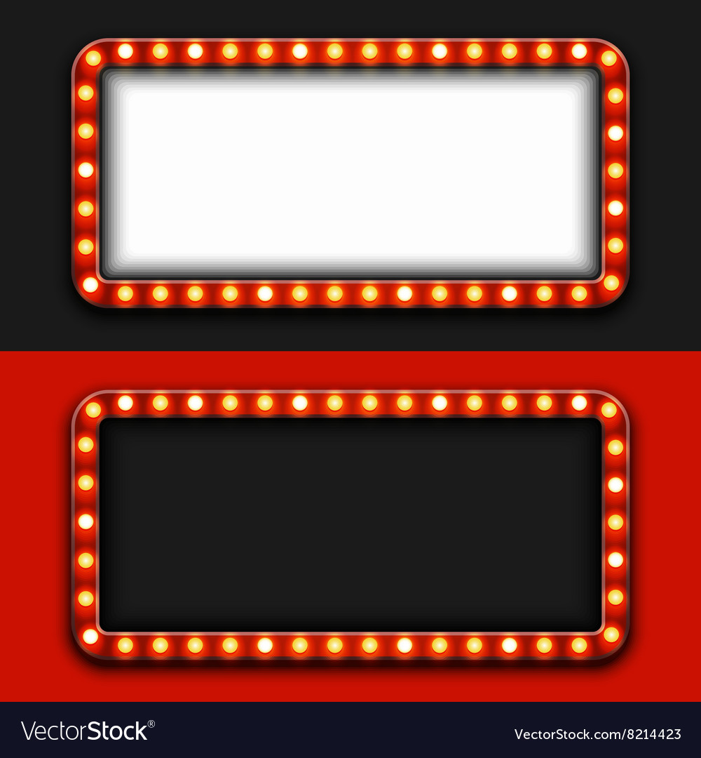 Modern retro billboard background vector