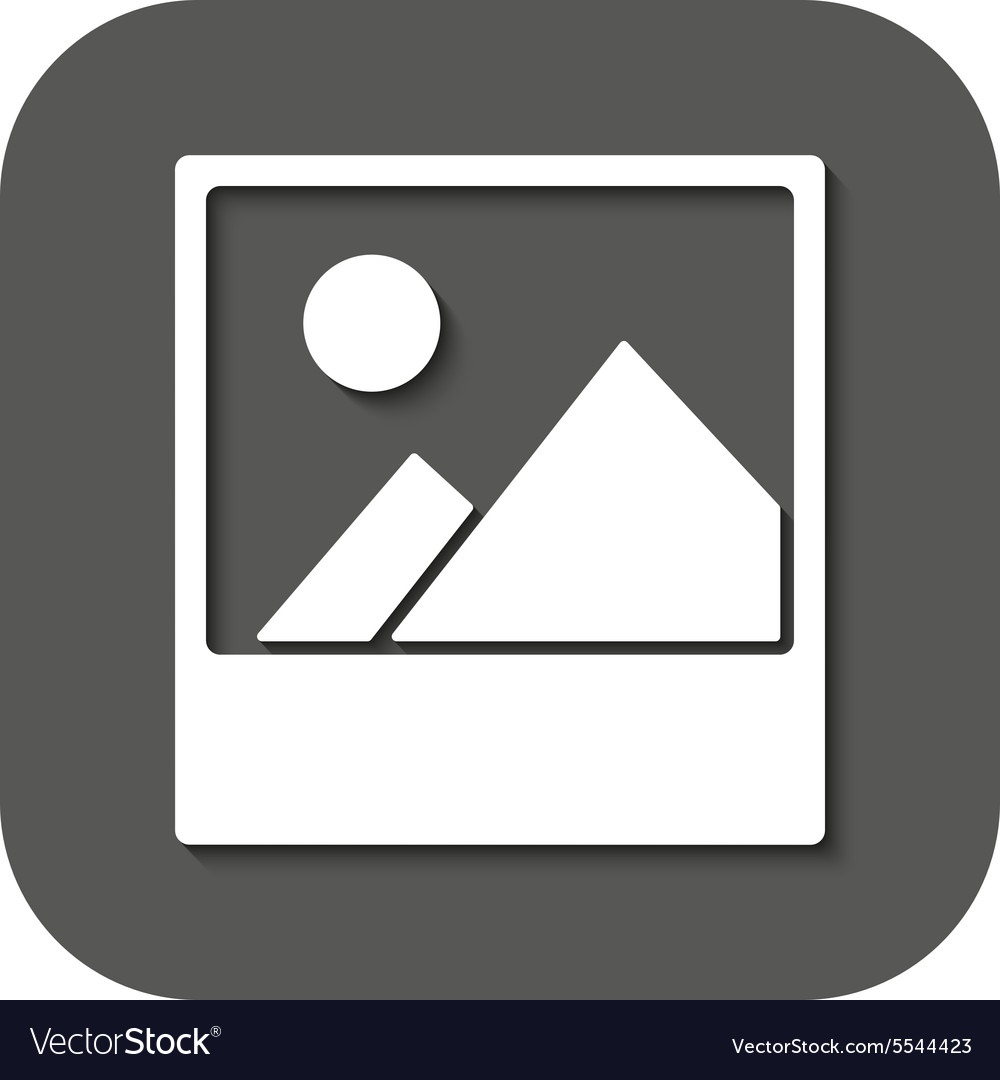 Photo icon picture and image photogallery vector