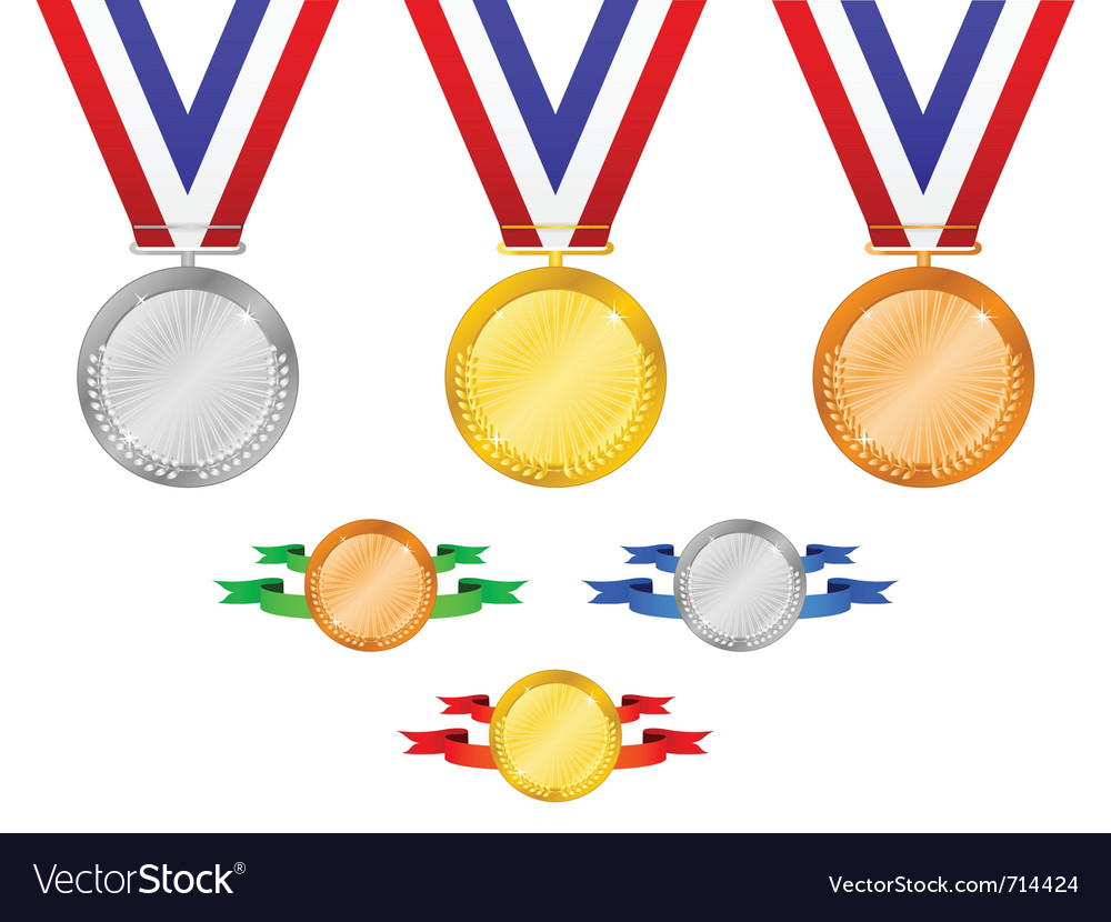 Medals set 3 vector