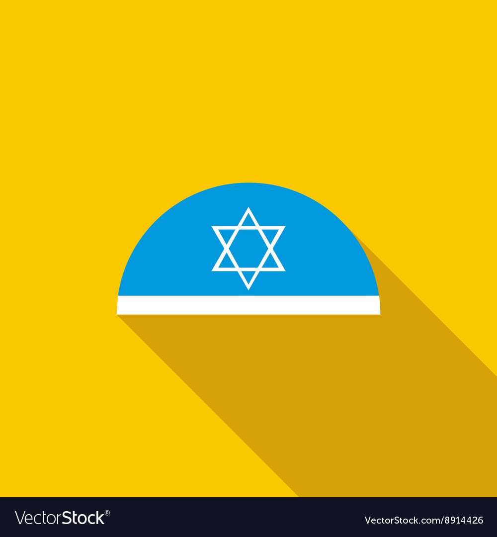 Traditional jewish cap with star of david icon vector