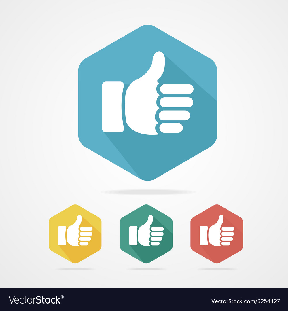Cursor thumb up like good social vector