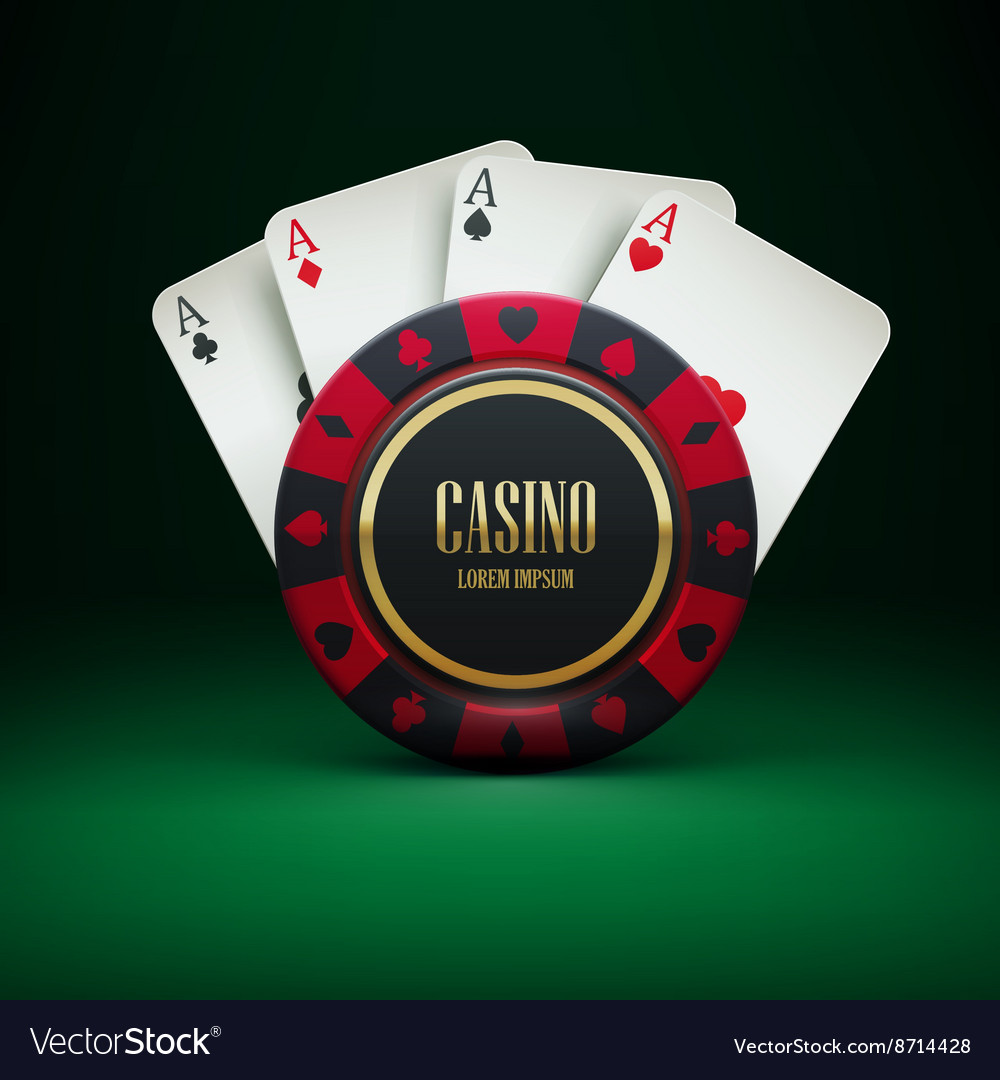 Casino chip with place for textrealistic theme vector