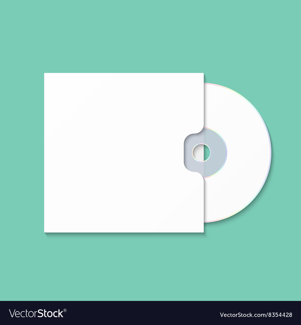 Cd cover template dwd box for cdr vector
