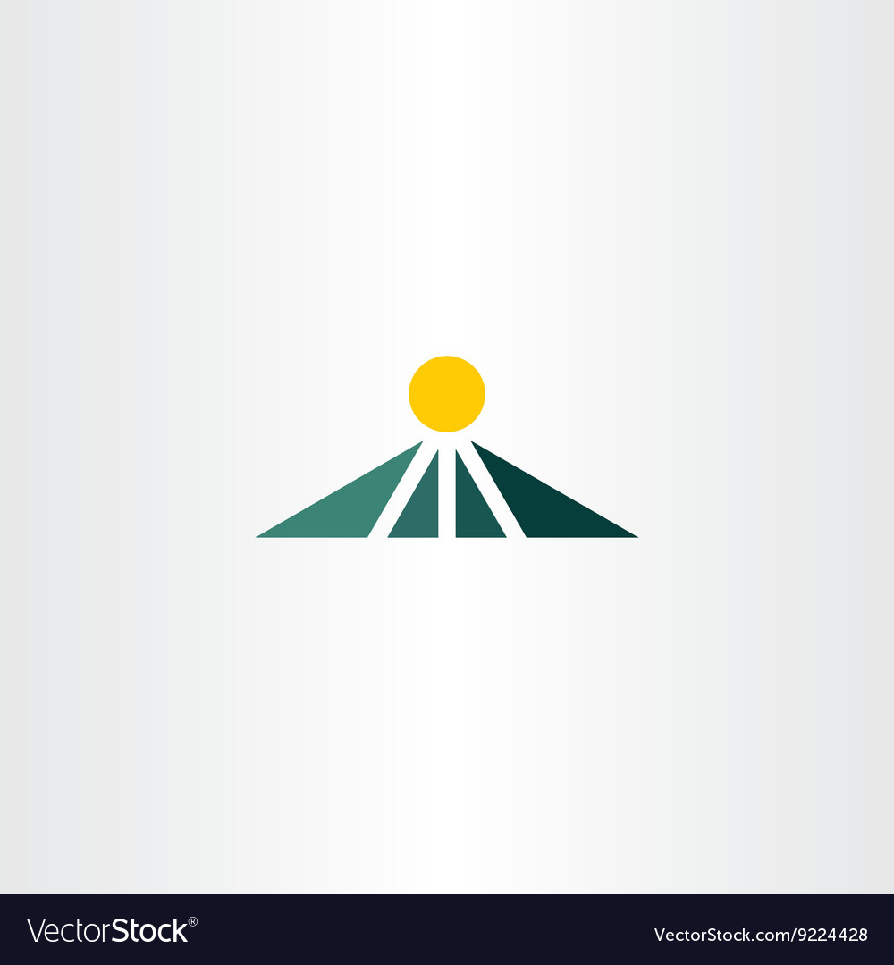 Simple mountain icon sign symbol vector