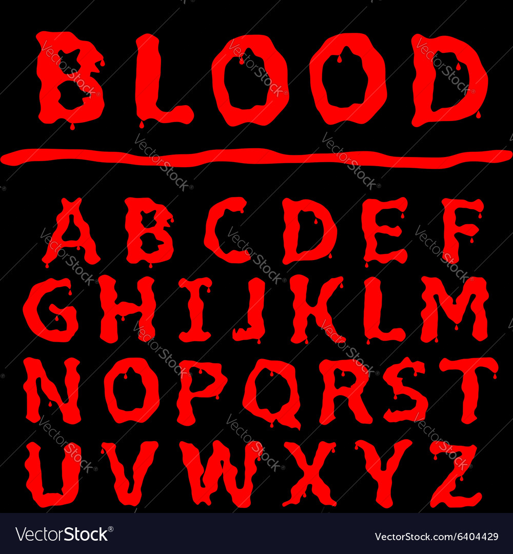 Blood letter set vector