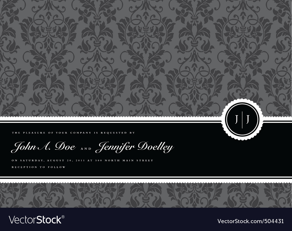 Ribbon frame and background vector