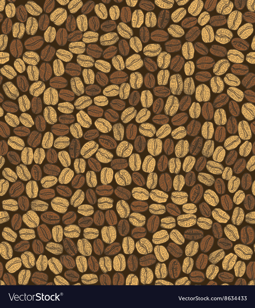 Dark seamless coffee background vector