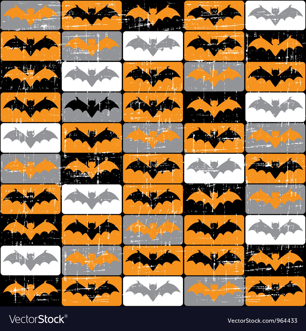 Halloween bat pattern vector