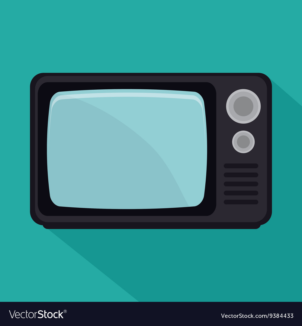 Old tv design vector