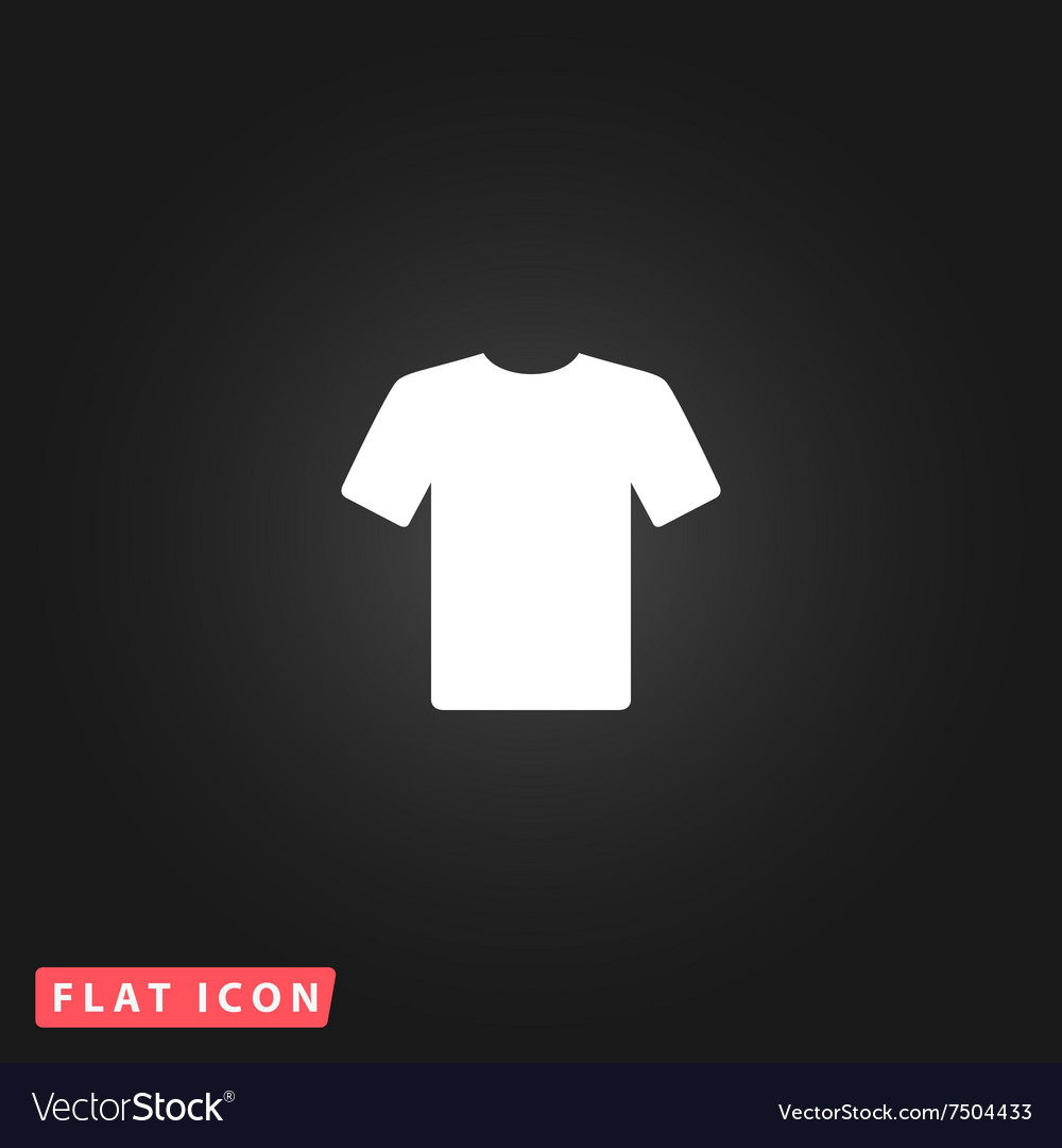 Tshirt flat icon vector
