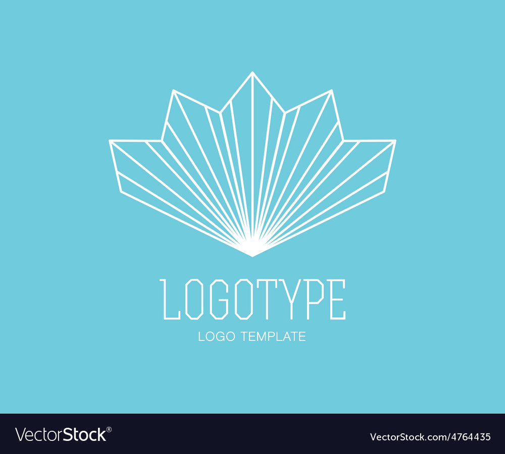 Abstract logo design elements arrows vector