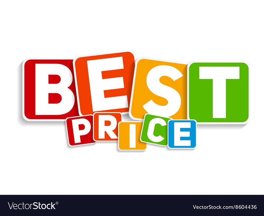 Best price sign template vector