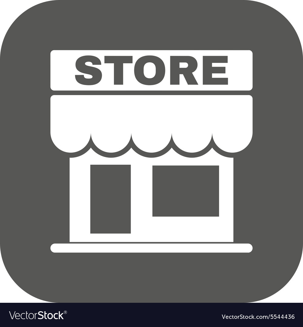 Store icon shop and retail market symbol vector