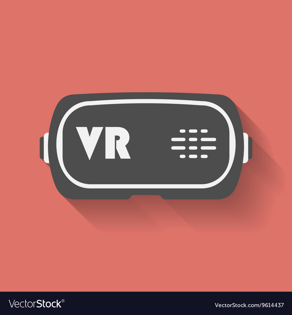 Virtual reality headset gaming cyber technologies vector