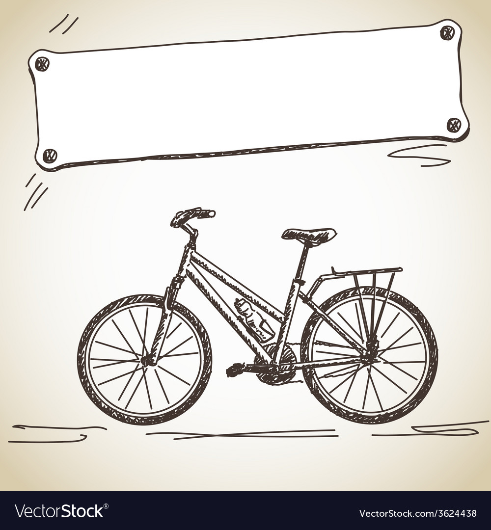 Bicycle with banner vector