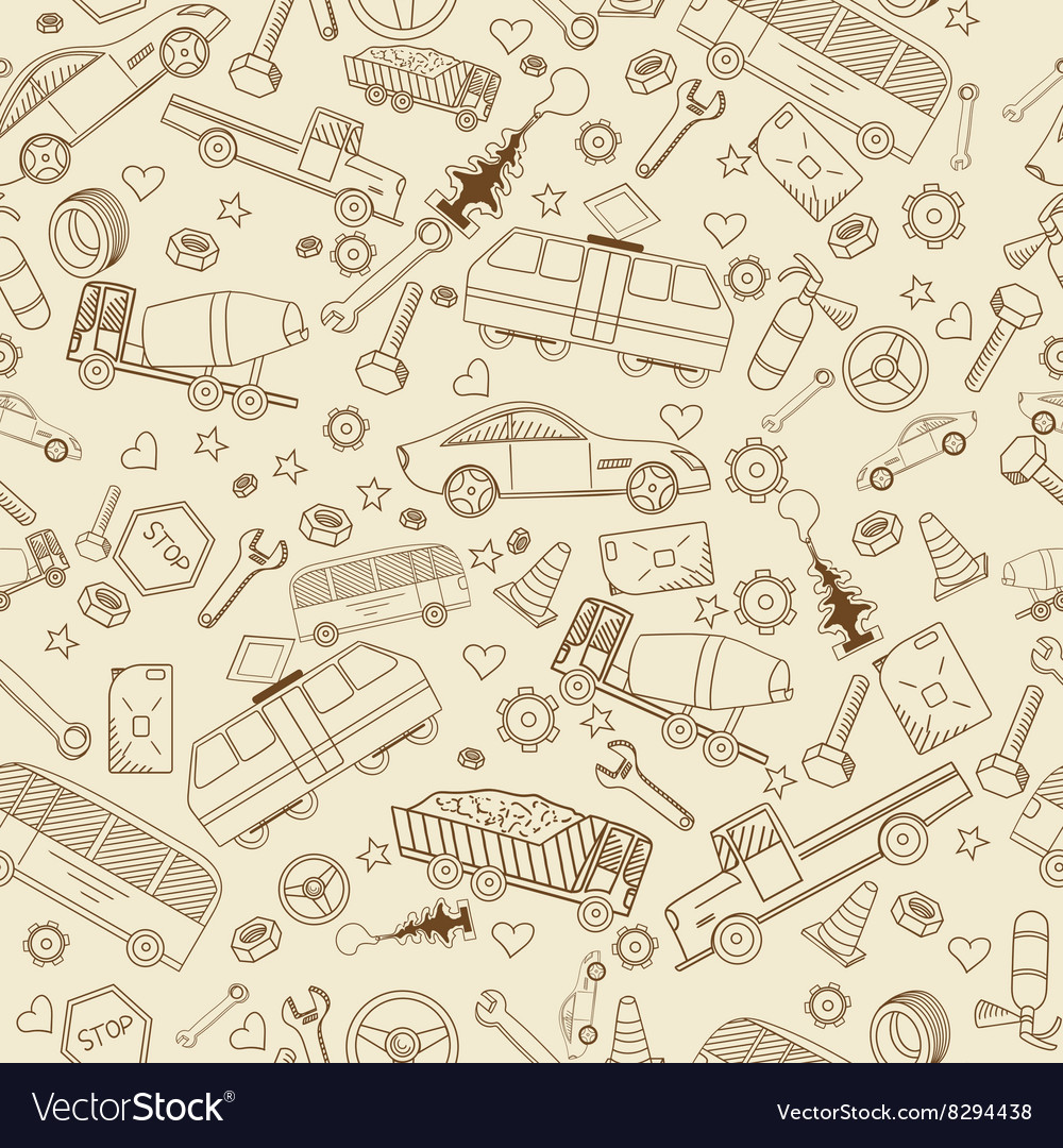 Car transport seamless vector