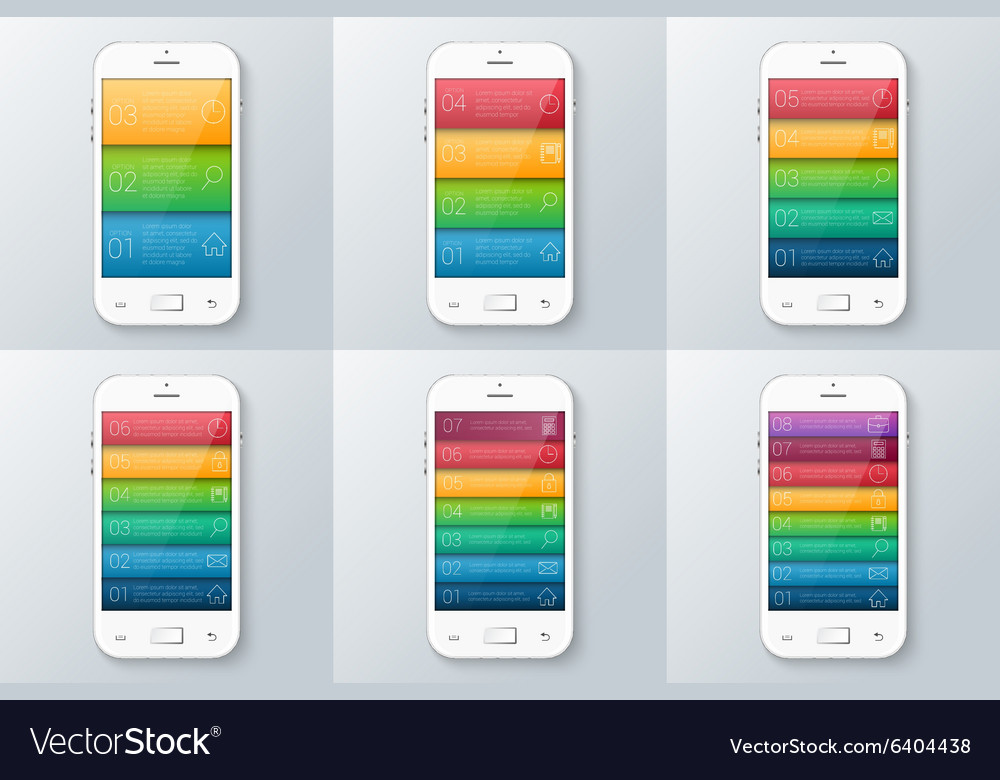 Mobile phone for infographic vector