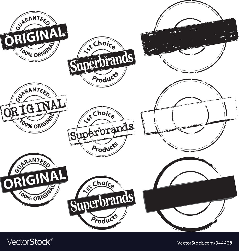 Rubber stamp original and superbrand vector