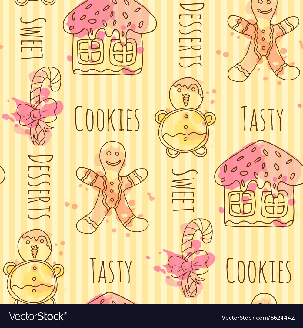 Candy seamless pattern with vector